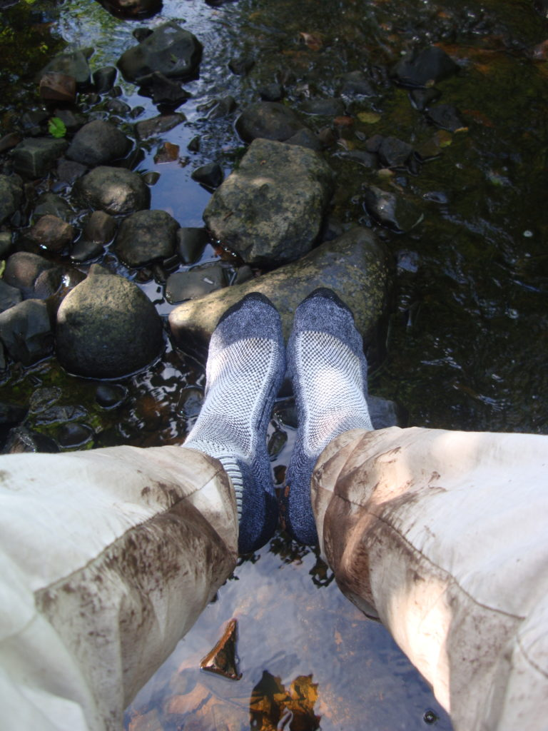 socks over river